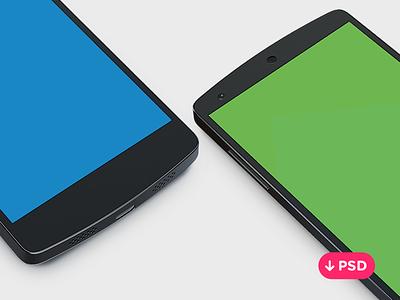 Nexus 5 PSD free psd freebie template nexus5 android