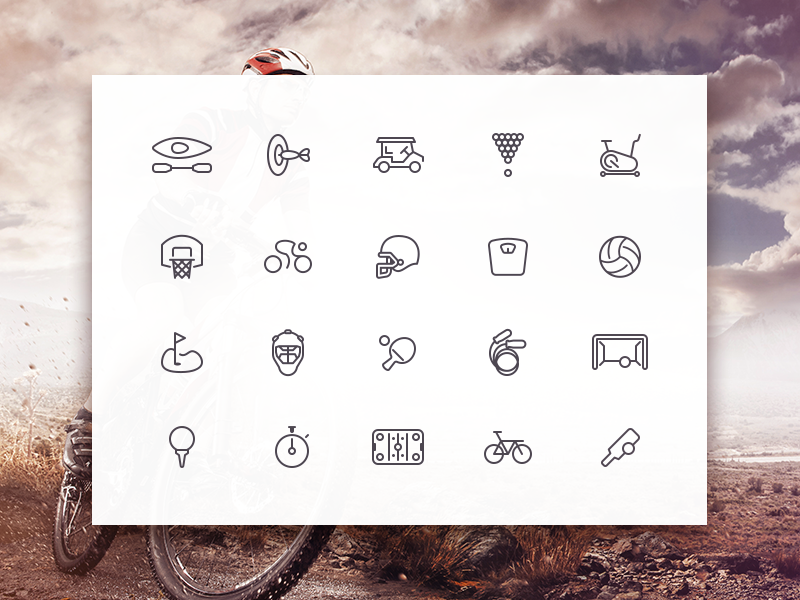 Sporties Icon Set icons freebie psd sketch ai sports ui8 creativedash