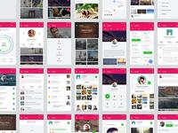 Material UI Kit: Profiles