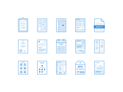Lil Pages vector ai sketch ui ux wires mini wireframes