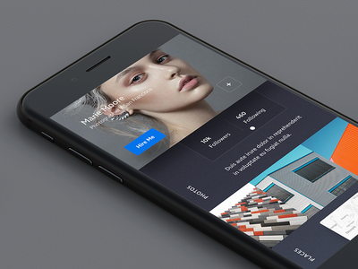 XD Profile #3 modern minimal ios design ui ux ui kit adobe xd