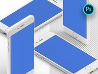 Isometric iPhone Mockups