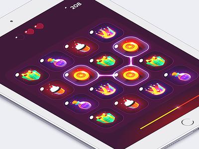 Game UI tablet ios fun colorful isometric ipad icons game ui