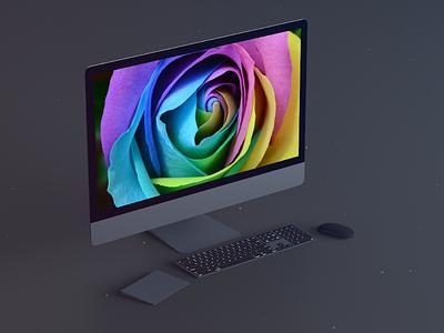 iMac Pro mockup sketch psd 4k mockup imac pro imac