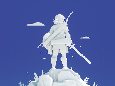 BOTW 3D WIP wip clay zelda botw link illustration 3d