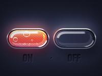 UI Element Design - Lava Single Buttons