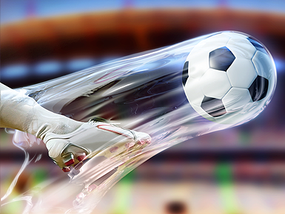 Soccer Game Illustration and Graphic Design kick direction illustration graphic design graphics photoshop soccer plasma ball fluid playing app icon designers app designers