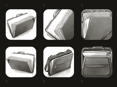 Icons portfolio sketches