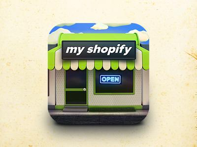 MyShopify Icon (Final) icon icons icon design graphics graphic design illustration app icon designers app designers