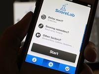 App UI Design - SnoreLab
