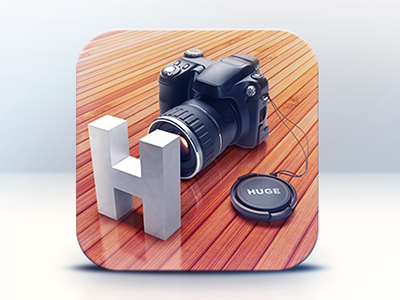 App Icon Design - HUGE - Final icon icons icon design graphics graphic design illustration lens camera wood apps ipad artists best mobile game iphone ios android app graphic 3d design designers developers illustrators app icon designers app designers
