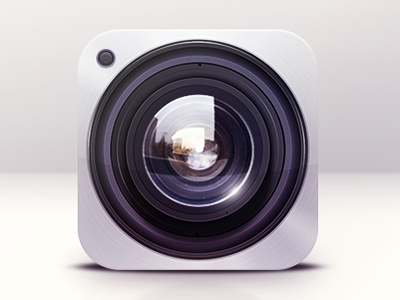 Camera Icon Design icon icons icon design graphics graphic design illustration reflections lens ios camera realistic clean