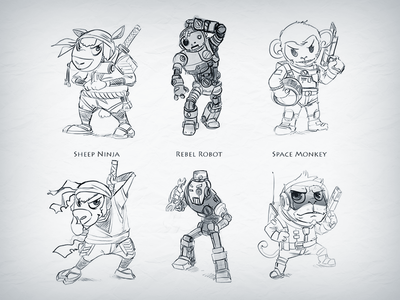 Game Characters (Sketches)