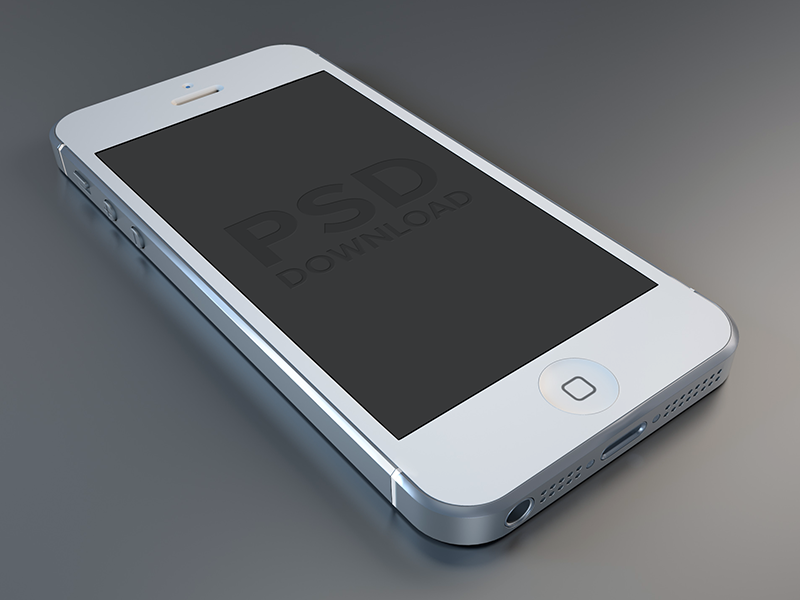 iPhone5 PSD (White) iphone 5 template psd white