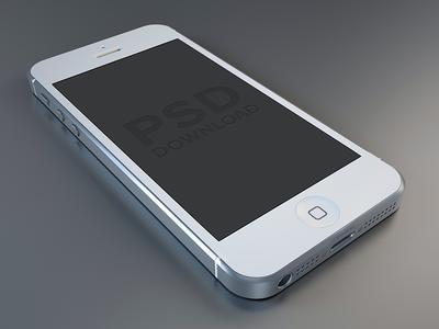 iPhone5 PSD (White)