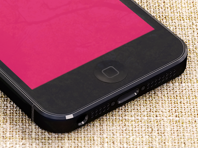 iPhone 5 / Black / Psd iphone 5 iphone5 3d canvas freebie free template preview wip