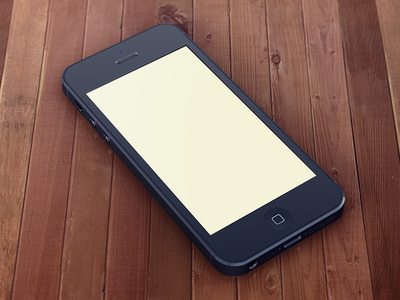 Another iPhone5 Template (Final) iphone5 template psd black freebie 3d apple free
