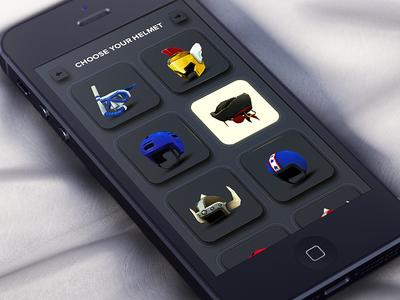 Game UI Design - Choose Your Helmet