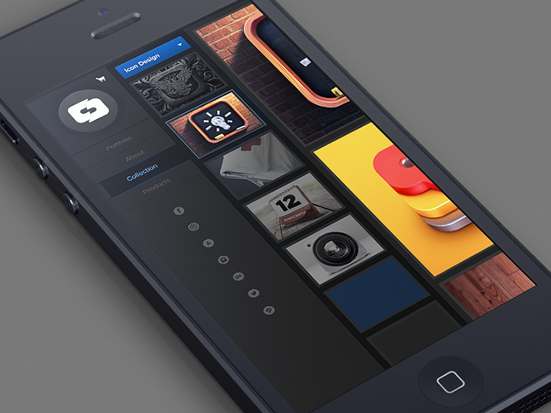 Mobile Portfolio ui iphone ipad mobile graphic design button buttons