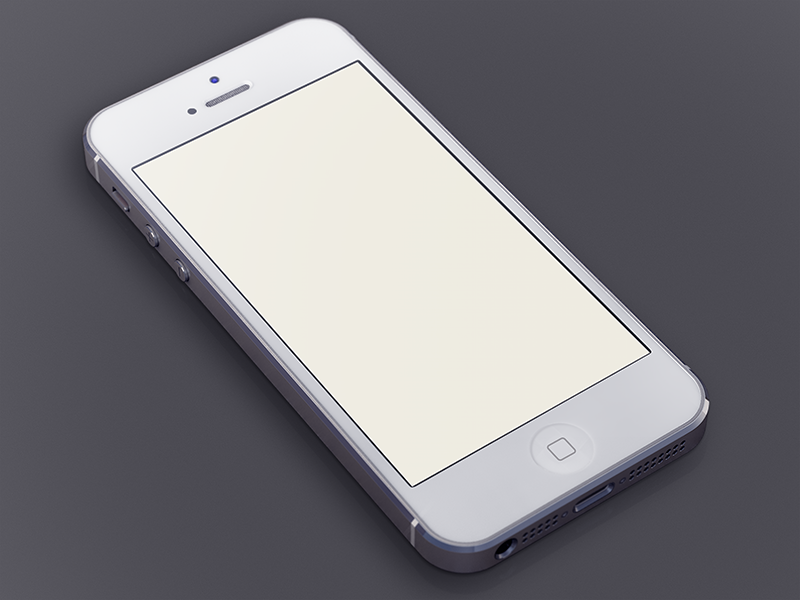 white iphone5 template by ui8 dribbble