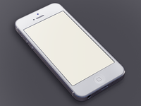 White iPhone5 Template