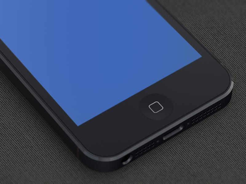 iPhone5 Template + template freebie white ios black free iphone5 iphone