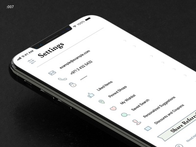 Settings – Daily UI #007