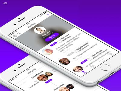 User Profile with Feedback – Daily UI #006 ui challenge daily ui challenge daily ui daily user profile ux ui flat clean app ios