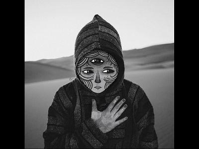 Wandering Meditation graffiti photography white and black illustration photo
