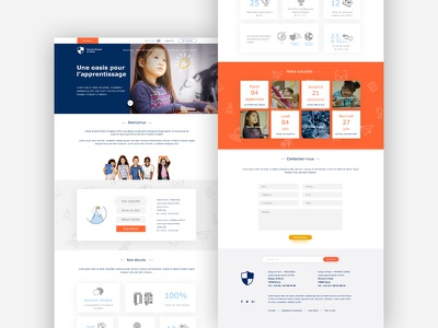 Landing page for a private school in Paris landing page school website webdesign web services redesign design