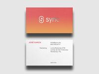 Sync App Business Card