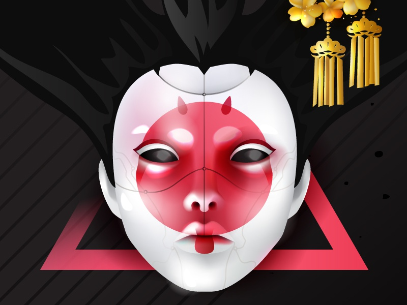 Robot Geisha From Ghost In The Shell By Anna On Dribbble