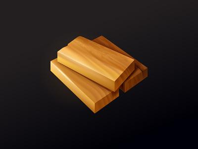 Wood plank icon resource game illustrator vector icon plank wood