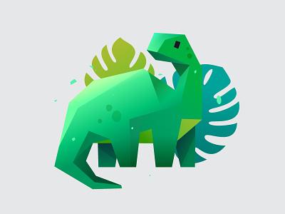 Brontosaurus dinosaur vector illustration