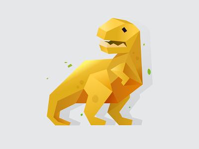 Tyrannosaurus vector illustration yellow dinosaur