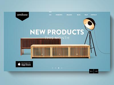 Amikasa | 3D Room Designer - Case Study landingpage app mobile furniture room room designer 3d amikasa