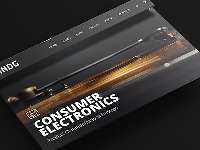 INDG - Website navigation webdesign responsive logo indg design branding menu navigation