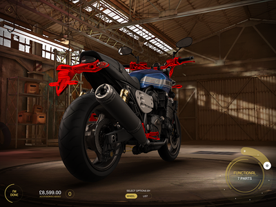 Yamaha - My Garage / 3D Configurator yamaha vehicle motor configurator bike automotive 3d