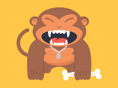 Gorilli gorilli monkey character illustration