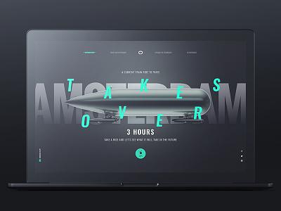 Delft Hyperloop ux ui typo design web black responsive hyperloop