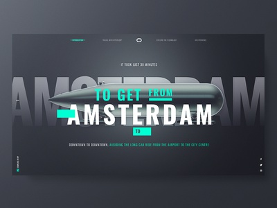 Delft Hyperloop ux ui typo design hyperloop web responsive black