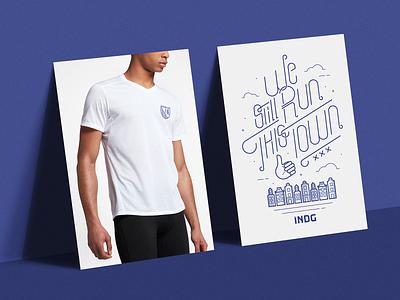 INDG - Running Team amsterdam city typography tshirt illistration t-shirt illustration