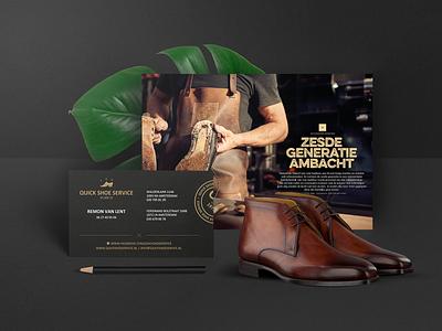 Quick Shoe Service mobile design webdesign responsive promotional logo woman men repair shoes branding