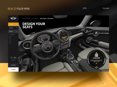 Mini - Car Configurator ux ui webdesign web interface ui deisgn ux design customisations ui  ux design car configurator mini