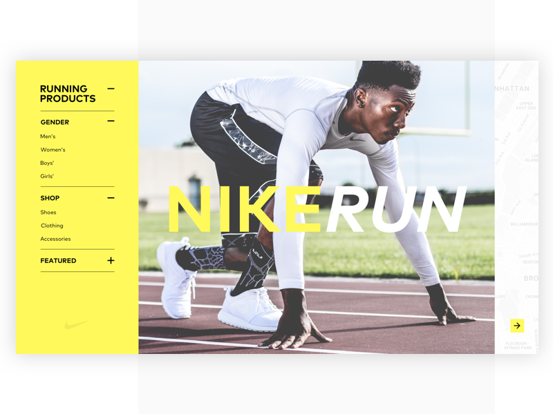 Nike Run Web Site online map clothing shop plus running ux ui web run nike
