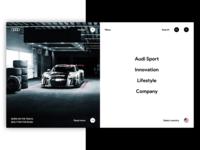Audi Web Site Redesign