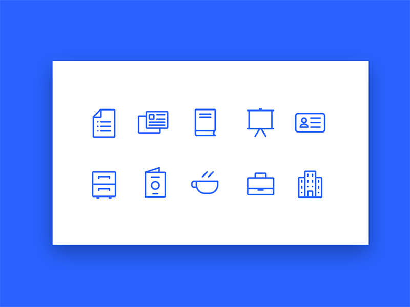 Icons display business