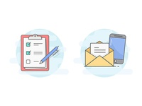 Contact and form Illustrations