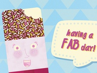 Having a Fab day illustration