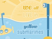 We all live in yellow submarines illustration
